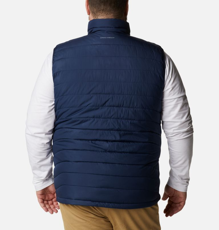 Powder Lite™ Vest | 465 | 2X Men's Powder Lite™ Vest - Plus Size, Collegiate Navy, back