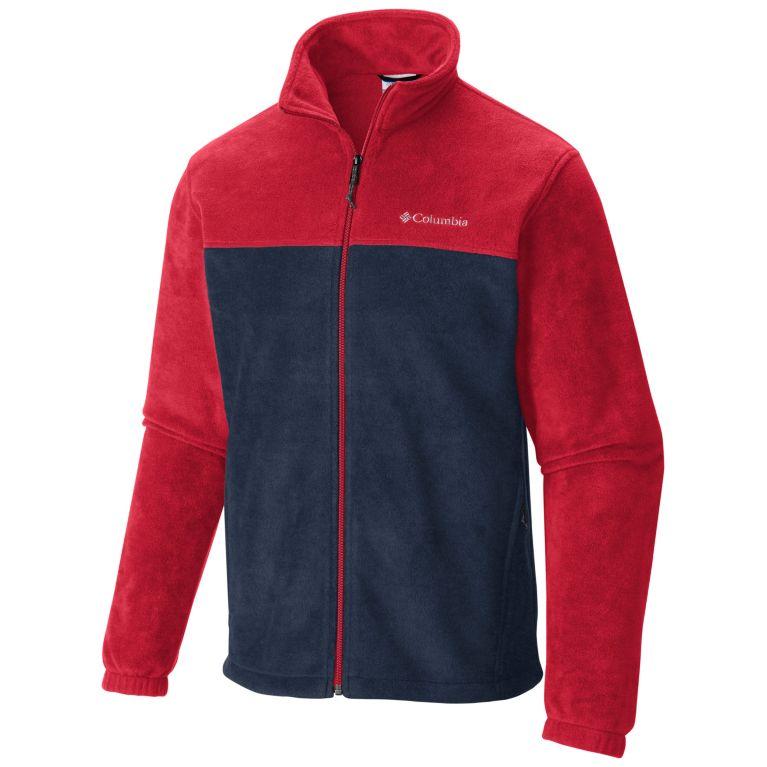 Red Spark, Collegiate Navy Men's Steens Mountain™ Full Zip Fleece 2.0 — Big, View 0