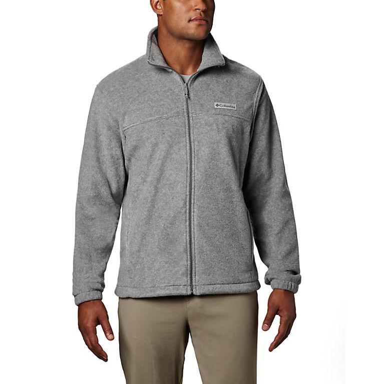 f0021372a1d Light Grey Heather Men's Steens Mountain™ Full Zip Fleece 2.0 — Tall, View 0