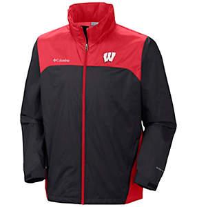 Men's Collegiate Glennaker Lake™ Stow-Hood Rain Jacket - Wisconsin