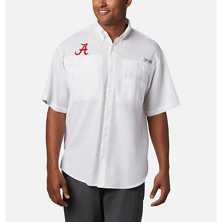 d43090a86a9 ALA - White Men s Collegiate Tamiami™ Short Sleeve Shirt - Alabama