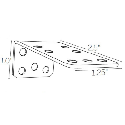 "1""-1.5"" or 2.5""-3"" Extension Bracket"