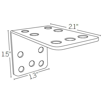 "1.5"" to 2.5"" Extension Bracket"