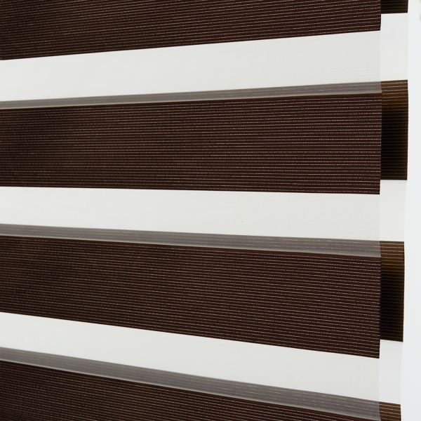 Banded Shades - Brilliance Room Darkening - Chocolate 4E2BR027