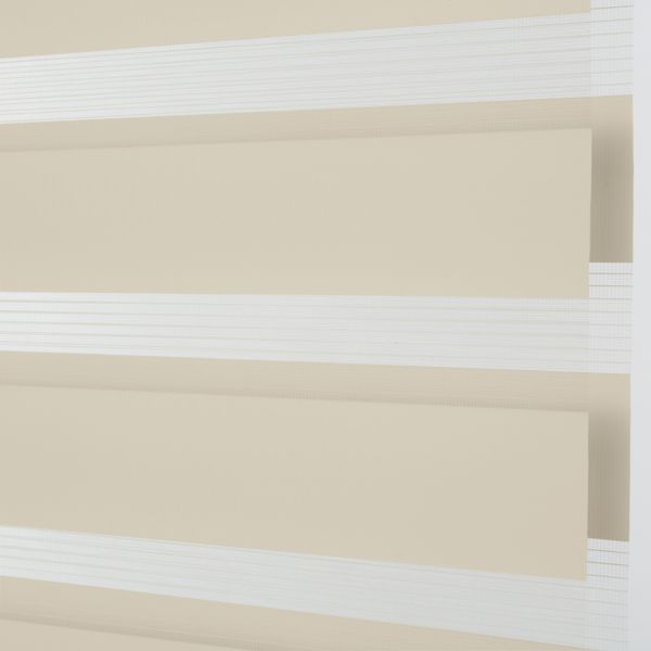 Banded Shades - Spree Light Filtering - Ivory 4I1WH050