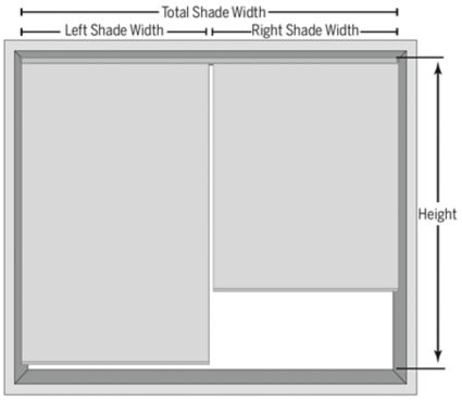 Measure For Multiple Blinds per Headrail