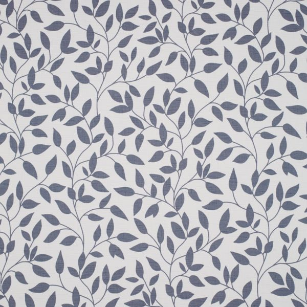 Panel Track - Olive Leaves Room Darkening China Blue 124PR016
