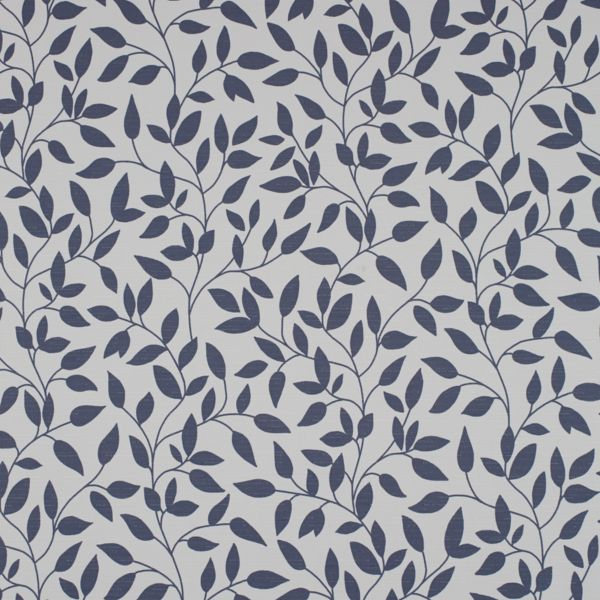 Roman Shades - Olive Leaves Room Darkening China Blue 121PR016