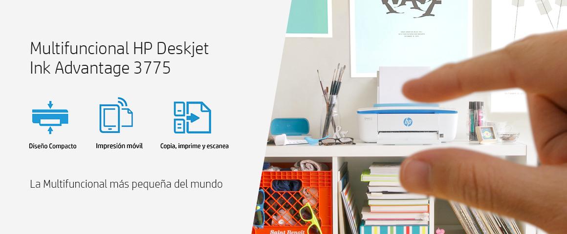 Multifuncional HP Deskjet Ink Advantage 3775 | La Multifuncional más pequeña del mundo