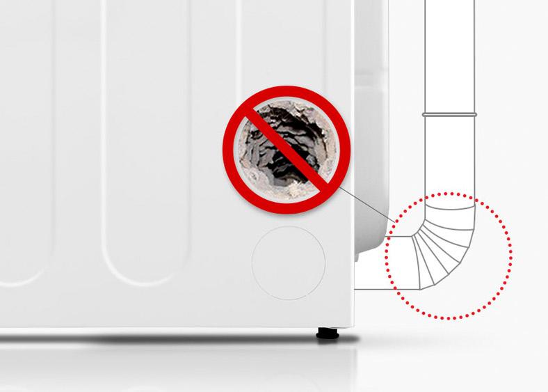 Flow Sense¿ detecta y alerta sobre bloqueos en los conductos que reducen el flujo de escape de la secadora.