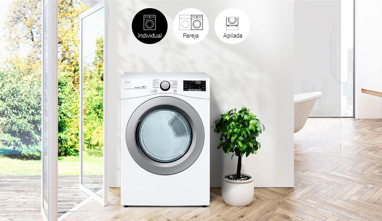 Descubre las parejas de lavadora y secadora LG con encaje perfecto para cada espacio.