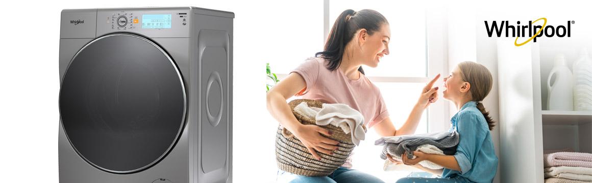 Lavasecadora Todo-En-Uno marca Whirlpool con 10 Kg de capacidad de lavado y 6 Kg de secado.