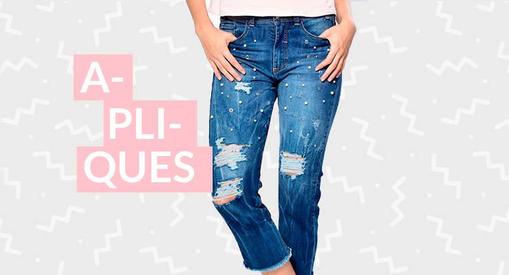 Jeans apliques