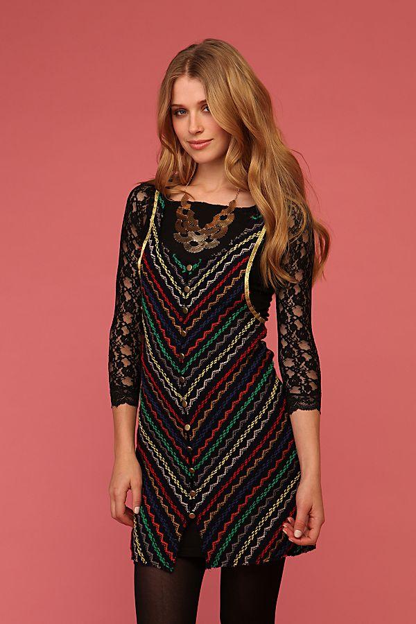 d57446c85e927 Zig Zag Sweater Dress