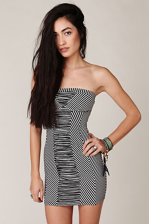 da44cd2ffbe16 Sailor Stripe Rayon Tube Dress