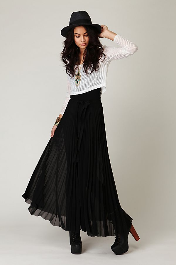 lace up in quality and quantity assured popular stores FP ONE Wrapped In Pleats Maxi Skirt
