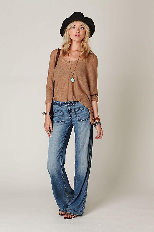 warehouse patch pocket denim skirt