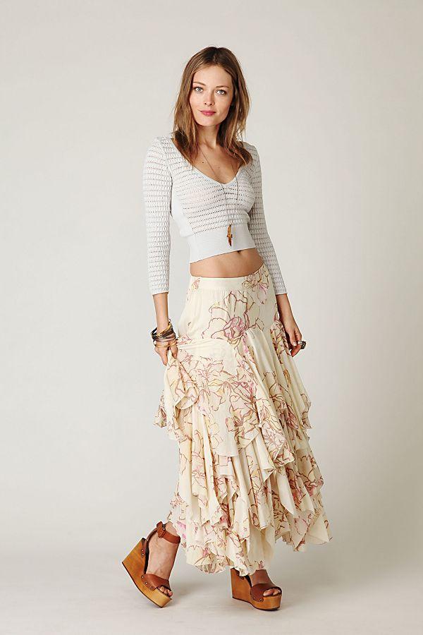 45219c02fc Rounded Godet Maxi Skirt   Free People