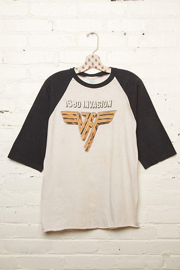 VAN HALEN Vintage T Shirt 1980 U.S INVASION TOUR concert.////
