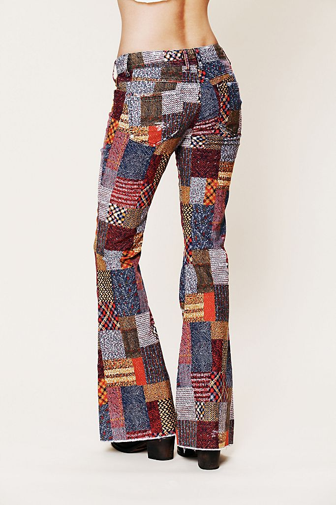 Patchwork Corduroy Flare Free People