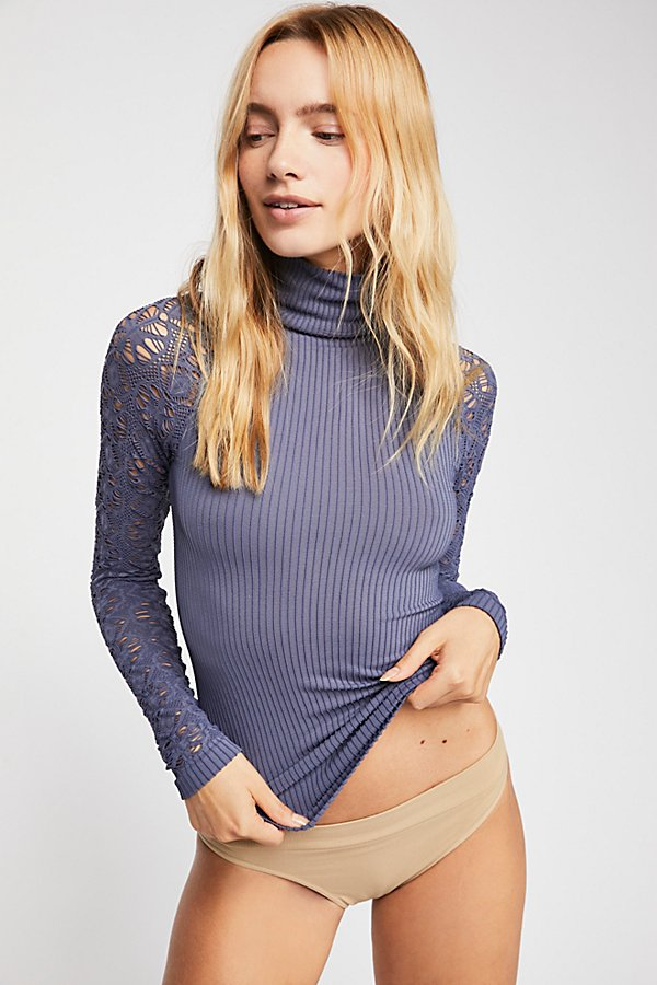 Slide View 2: Rib and Lace Turtleneck