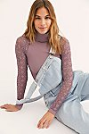 Thumbnail View 1: Rib and Lace Turtleneck
