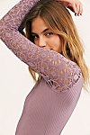 Thumbnail View 4: Rib and Lace Turtleneck