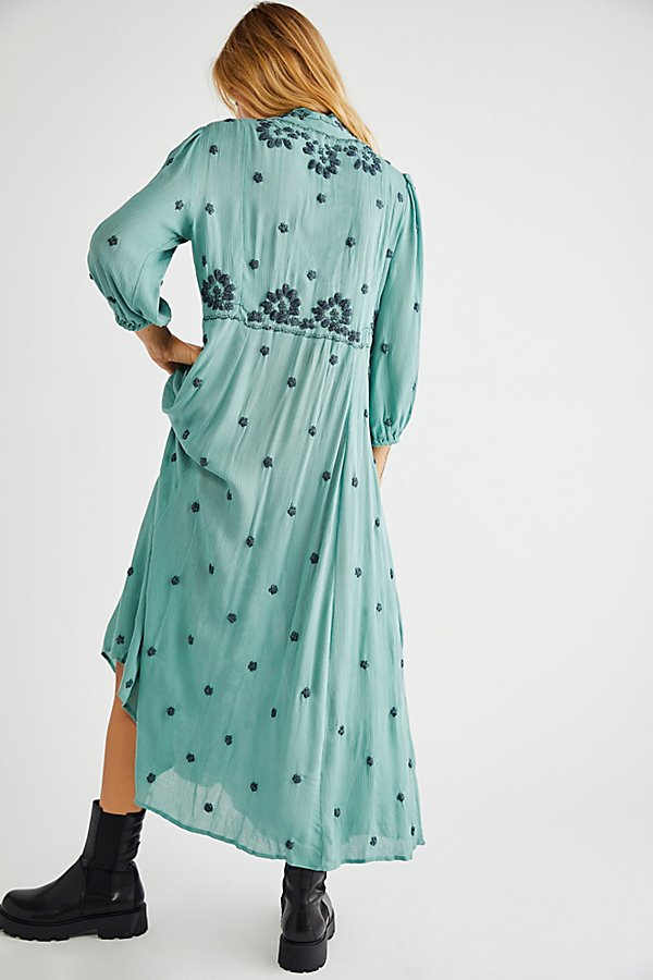 Slide View 2: Embroidered Fable Midi Dress