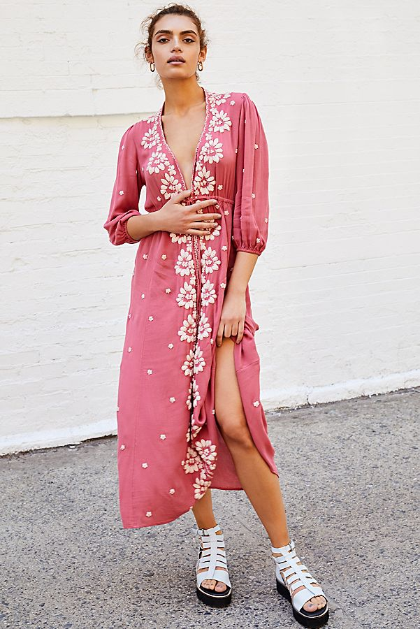 cd6eb0cd046 Slide View 1  Embroidered Fable Midi Dress