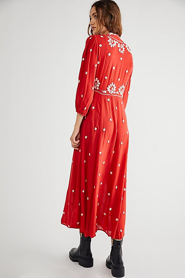 Slide View 3: Embroidered Fable Midi Dress