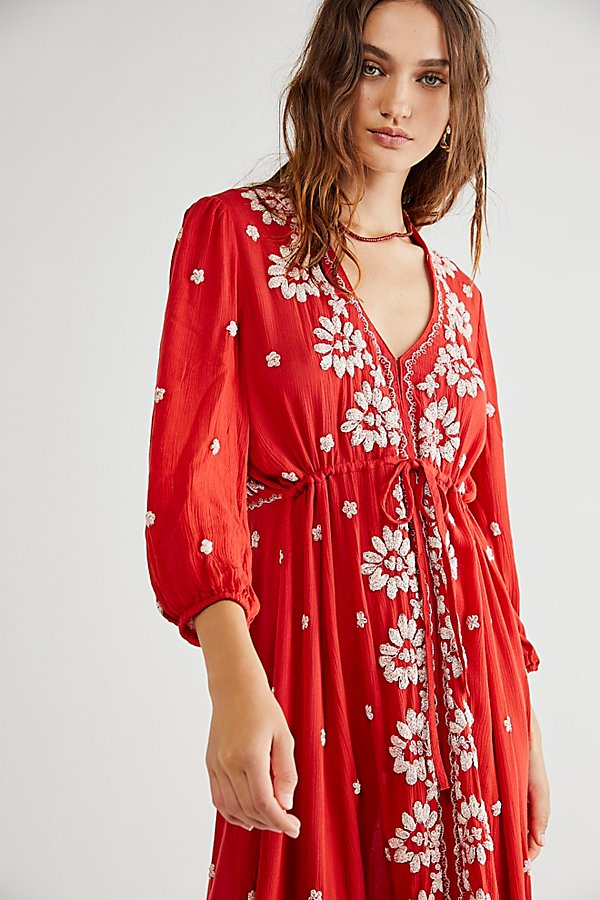 Slide View 1: Embroidered Fable Midi Dress