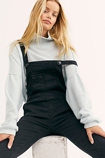 Washed Denim Dungarees