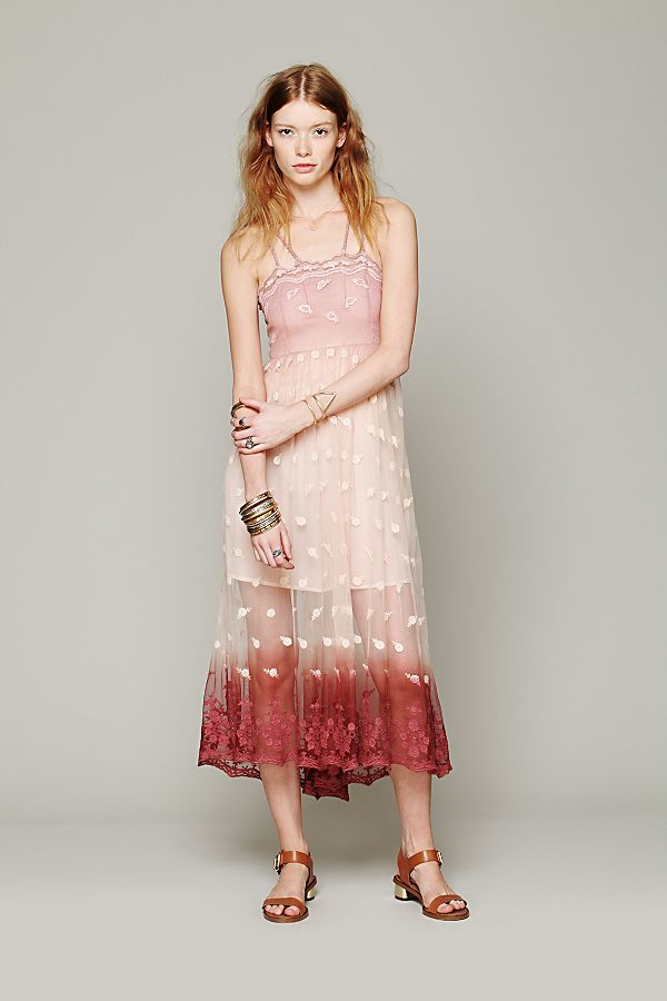 a3a41a5ca3be9 Tralala Embroidered Mesh Maxi