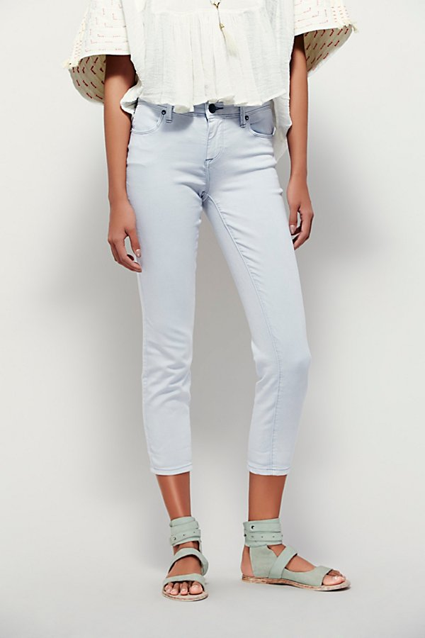 Slide View 2: Rolled Crop Skinny Jeans