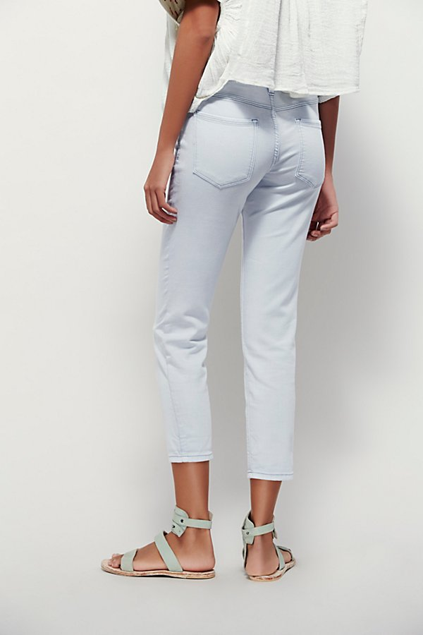 Slide View 3: Rolled Crop Skinny Jeans