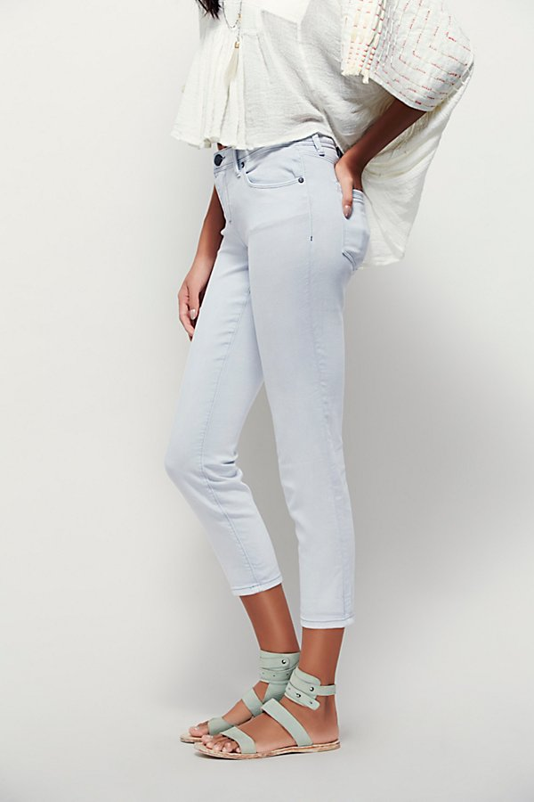 Slide View 4: Rolled Crop Skinny Jeans
