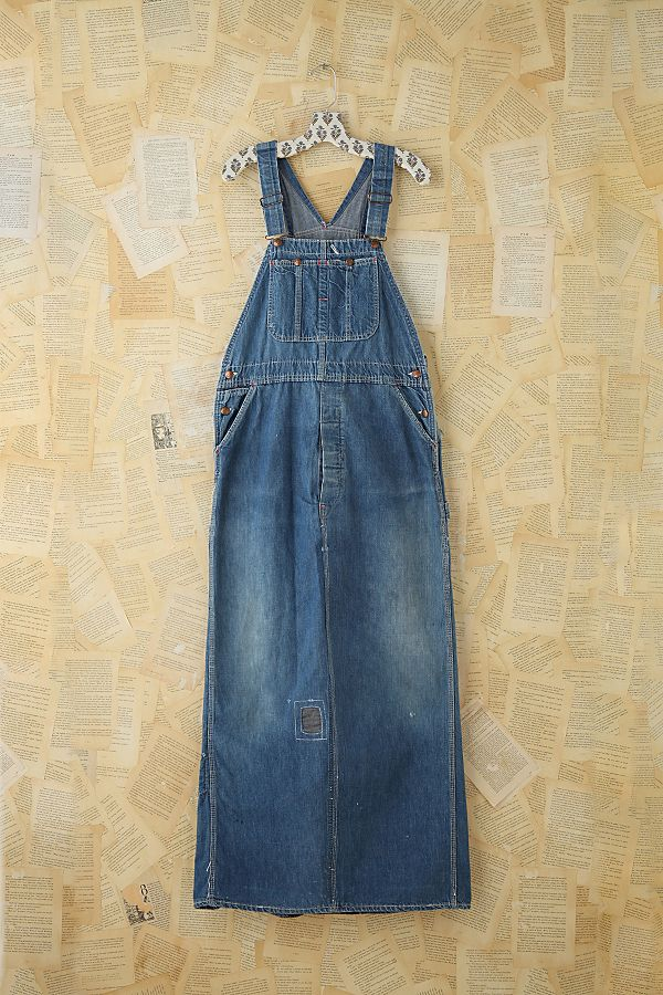 c011602fc4 Vintage Indigo Overall Dress