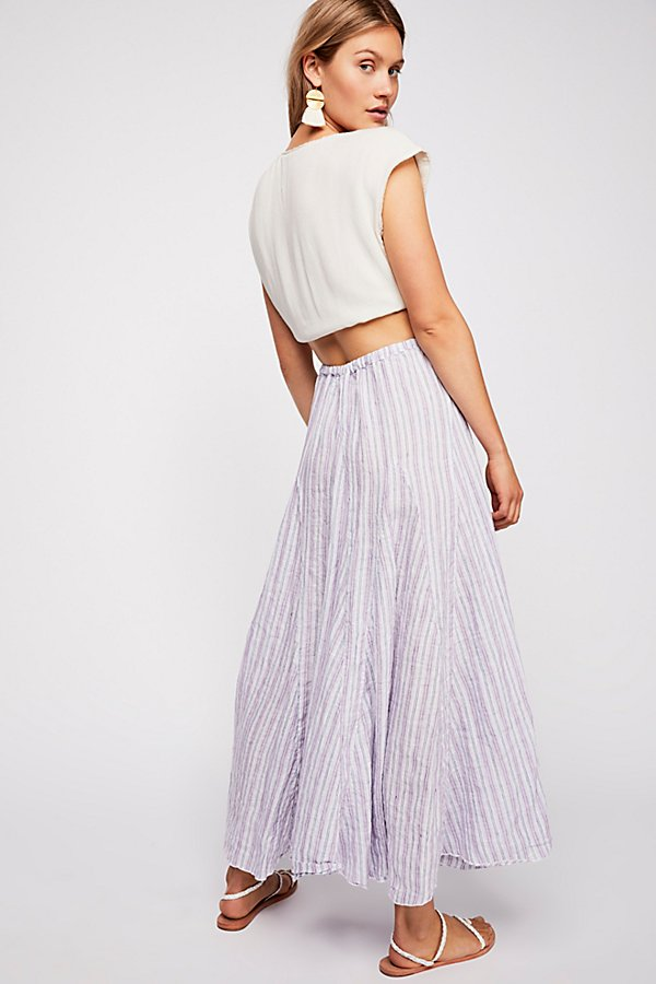 Slide View 2: Lily Linen Maxi Skirt