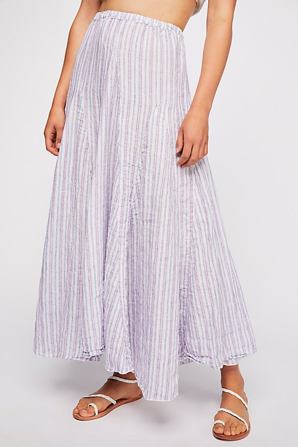 Slide View 3: Lily Linen Maxi Skirt