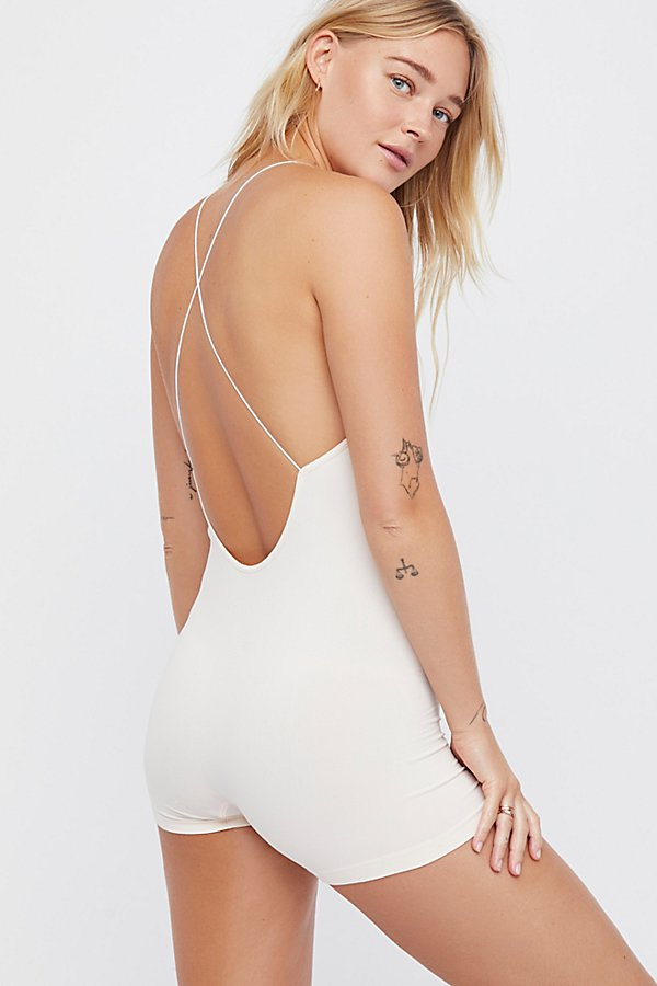 Slide View 1: Low Back Seamless Romper