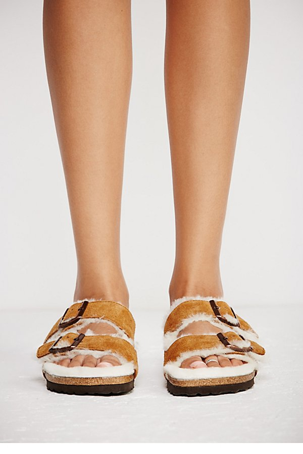 Slide View 3: Arizona Shearling Birkenstock Sandal