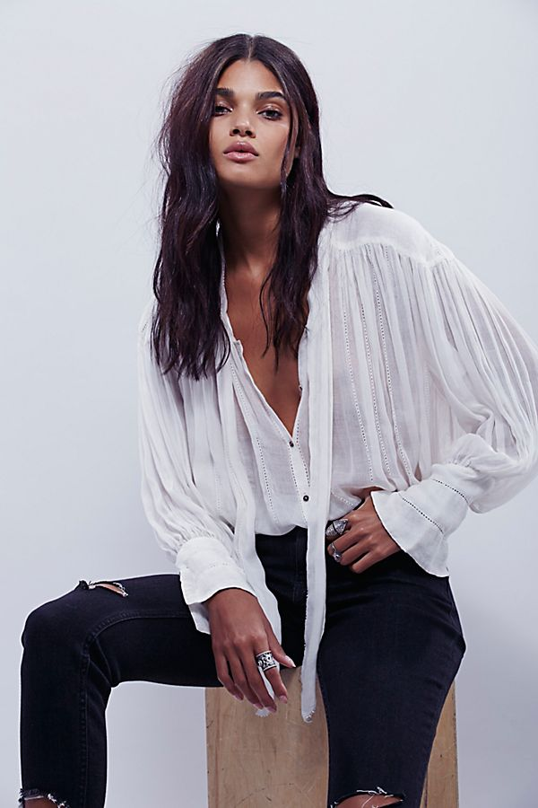 ccafa932 FP One Tie Front Blouse | Free People