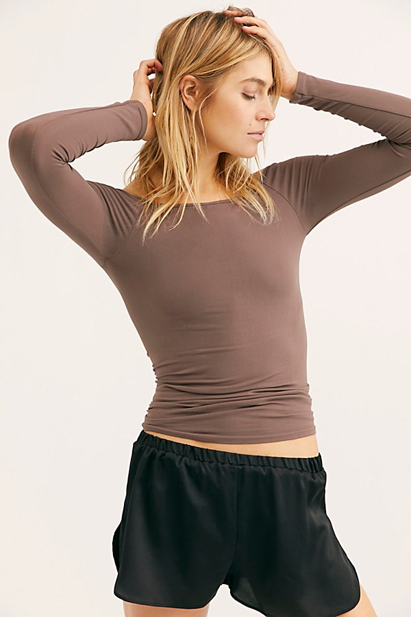 Slide View 2: Off the Shoulder Solid Top