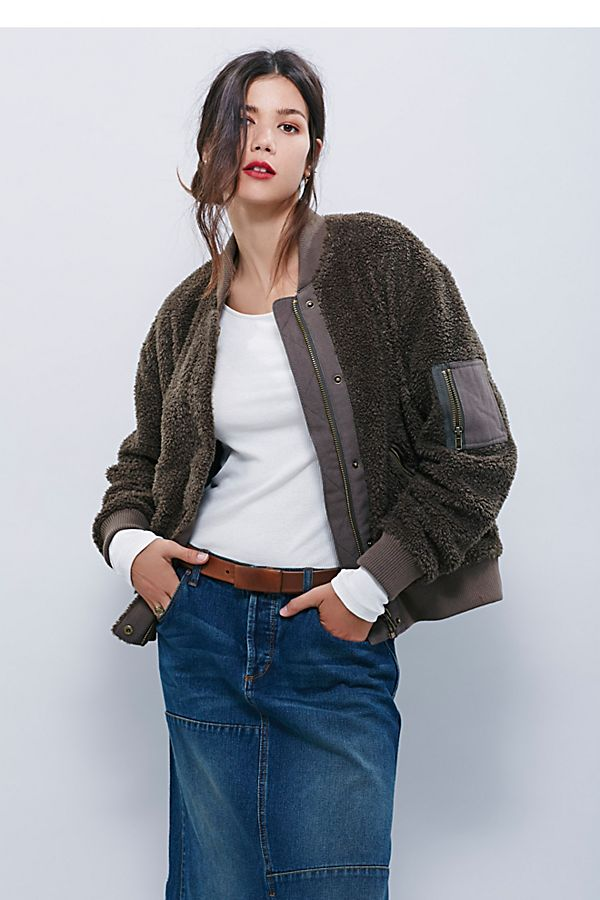 583867433 Teddy Aviator Jacket