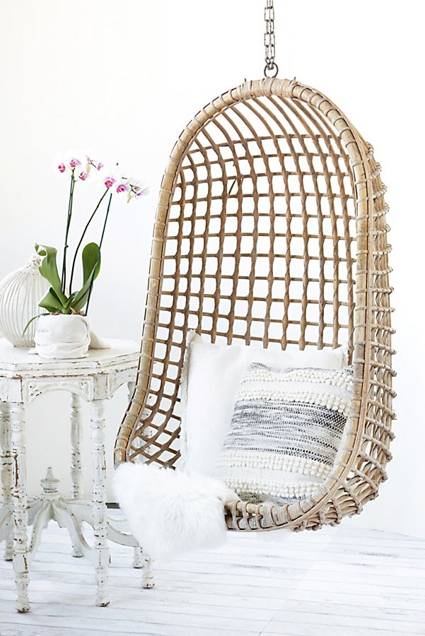 Vintage Rattan Hang Chair Sold
