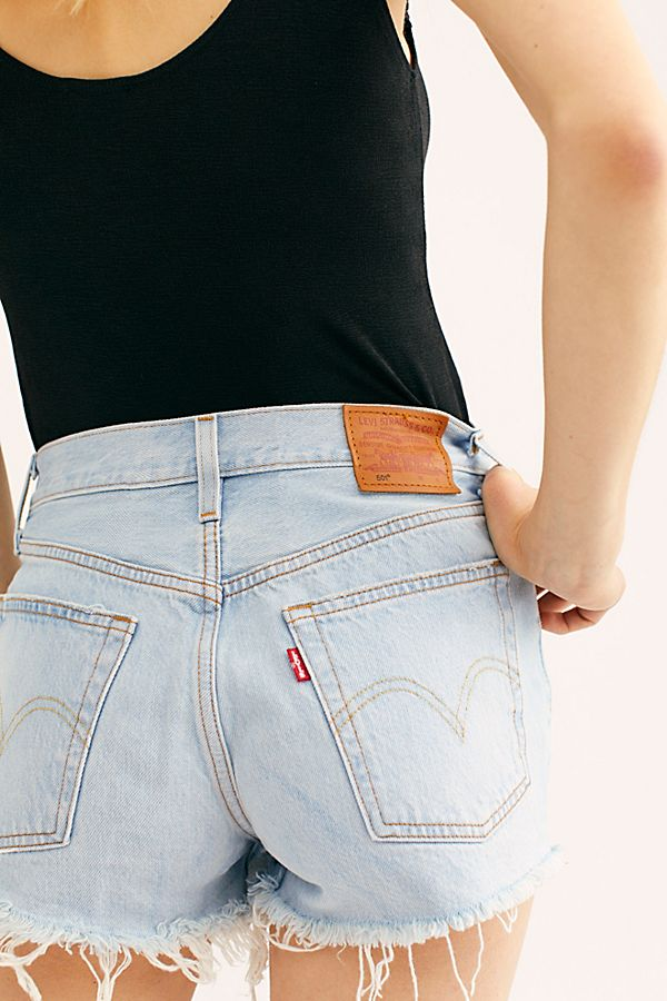 NEW FREE PEOPLE DENIM CUT OFF DISTRESSED SHORTS Size 25 Summer Sky