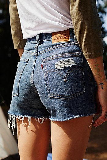 Levi's High-Rise Wedgie Cutoff Shorts