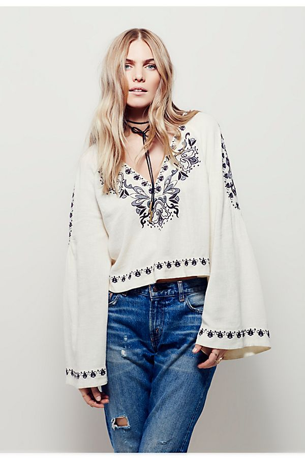 fc912d013cd38a High Times Embroidered Top | Free People
