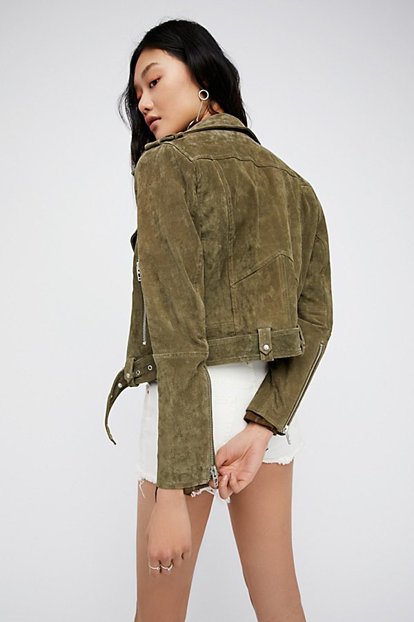 Slide View 2: Suede Moto Jacket