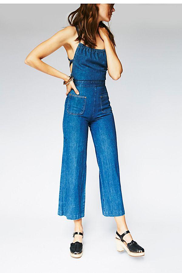 select for original cost charm outlet for sale Vintage 1970s Denim Jumpsuit